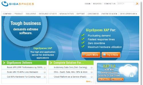 Gigaspaces homepage
