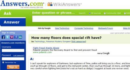 Answers.com Homepage