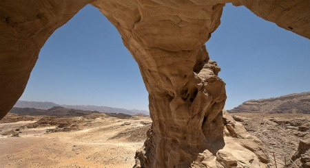 Rock arch in Timna Park