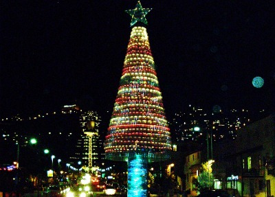 Christmas tree in Haifa