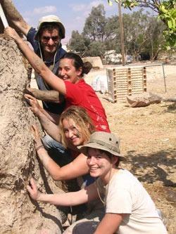 Kibbutz Lotan volunteers