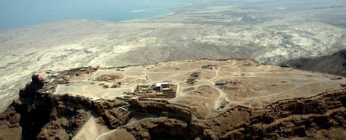 Masada aerial view